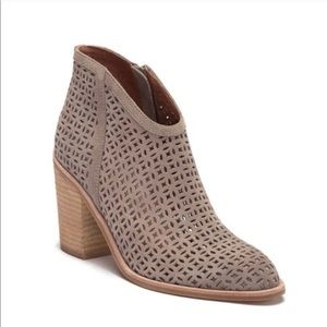 Jeffrey Campbell Taupe Suede Ankle Boots 6.5